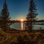 Sunset Madision Arm Hebgen Lake