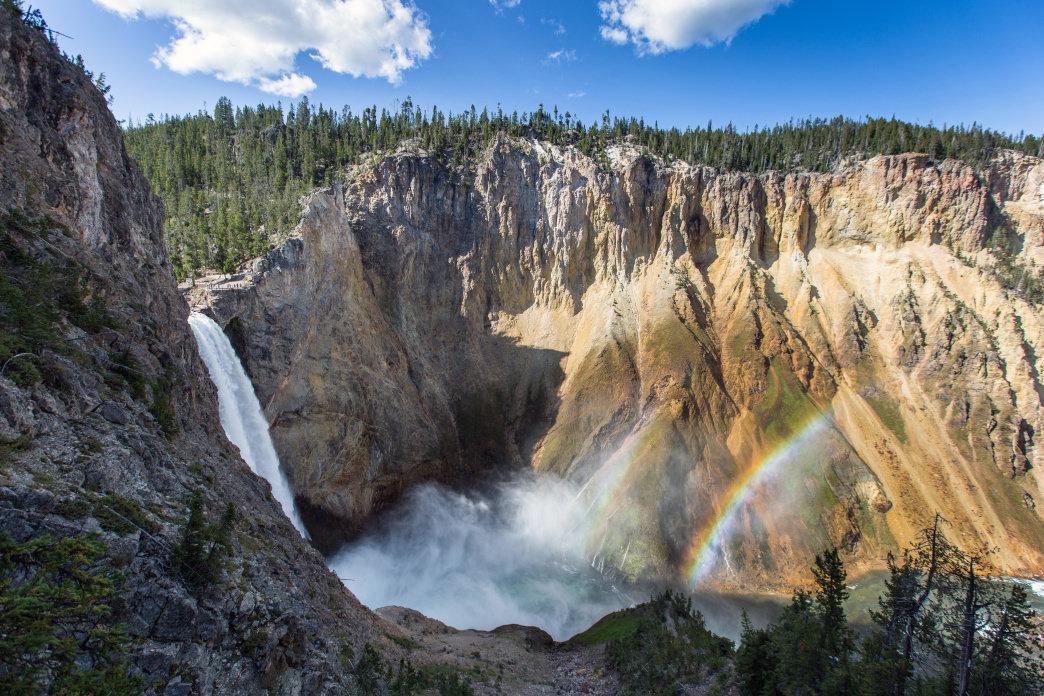 Montana West Yellowstone upper n lower Falls